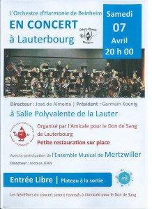 Affiche concert Lauterbourg